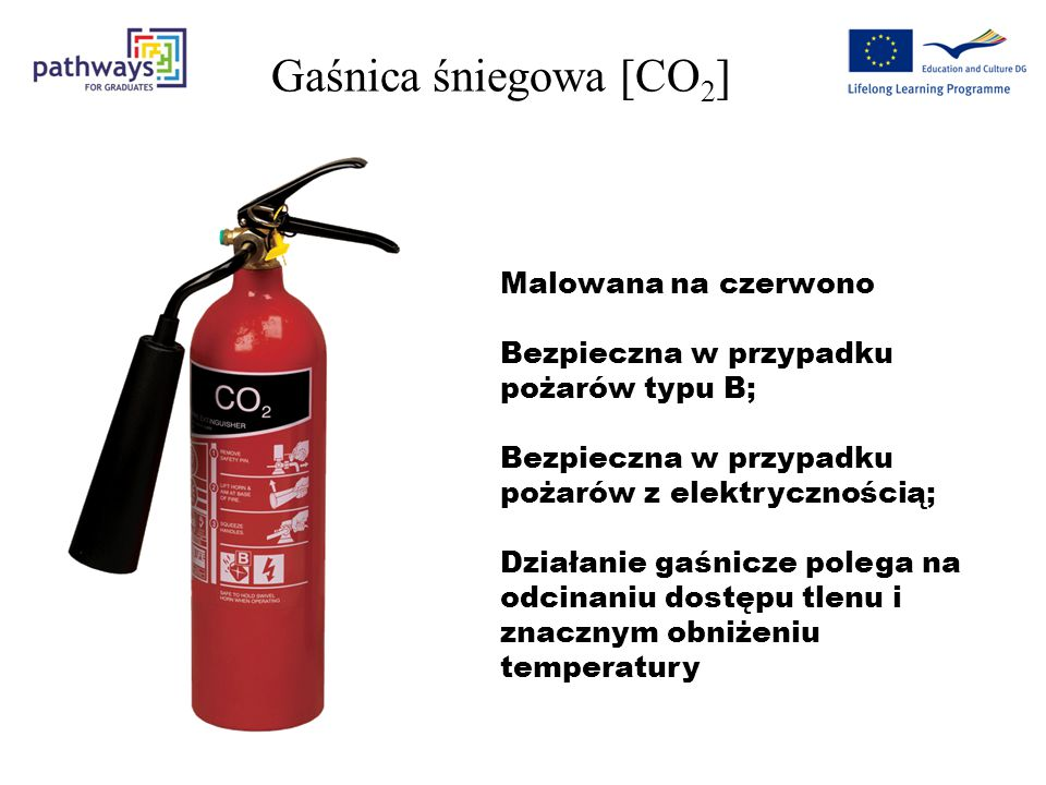 Gaśnica śniegowa [CO2] Malowana na czerwono
